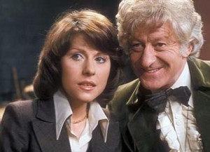 Sarah Jane and the Third Doctor (Jon Pertwee).