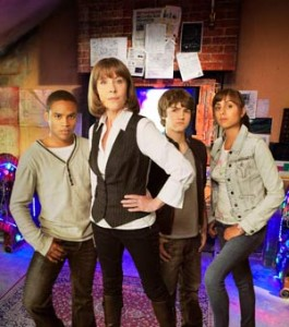 "The cast of ""The Sarah Jane Adventures"" in 2008."