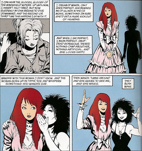 Wanda's final goodbye in Sandman: A Game of You.