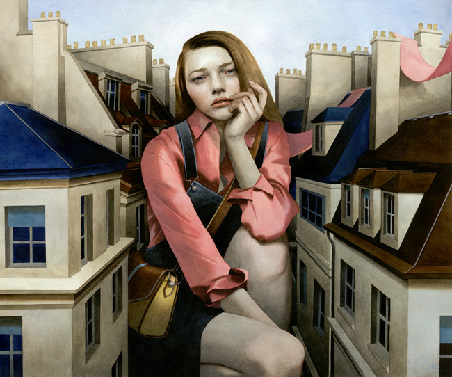 Cover art preview: A Sentimental Swallow by Tran Nguyen (Available as postcards and prints for some backers)