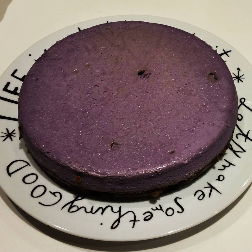 Ube cheesecake. This is going in the regular dessert rotation.