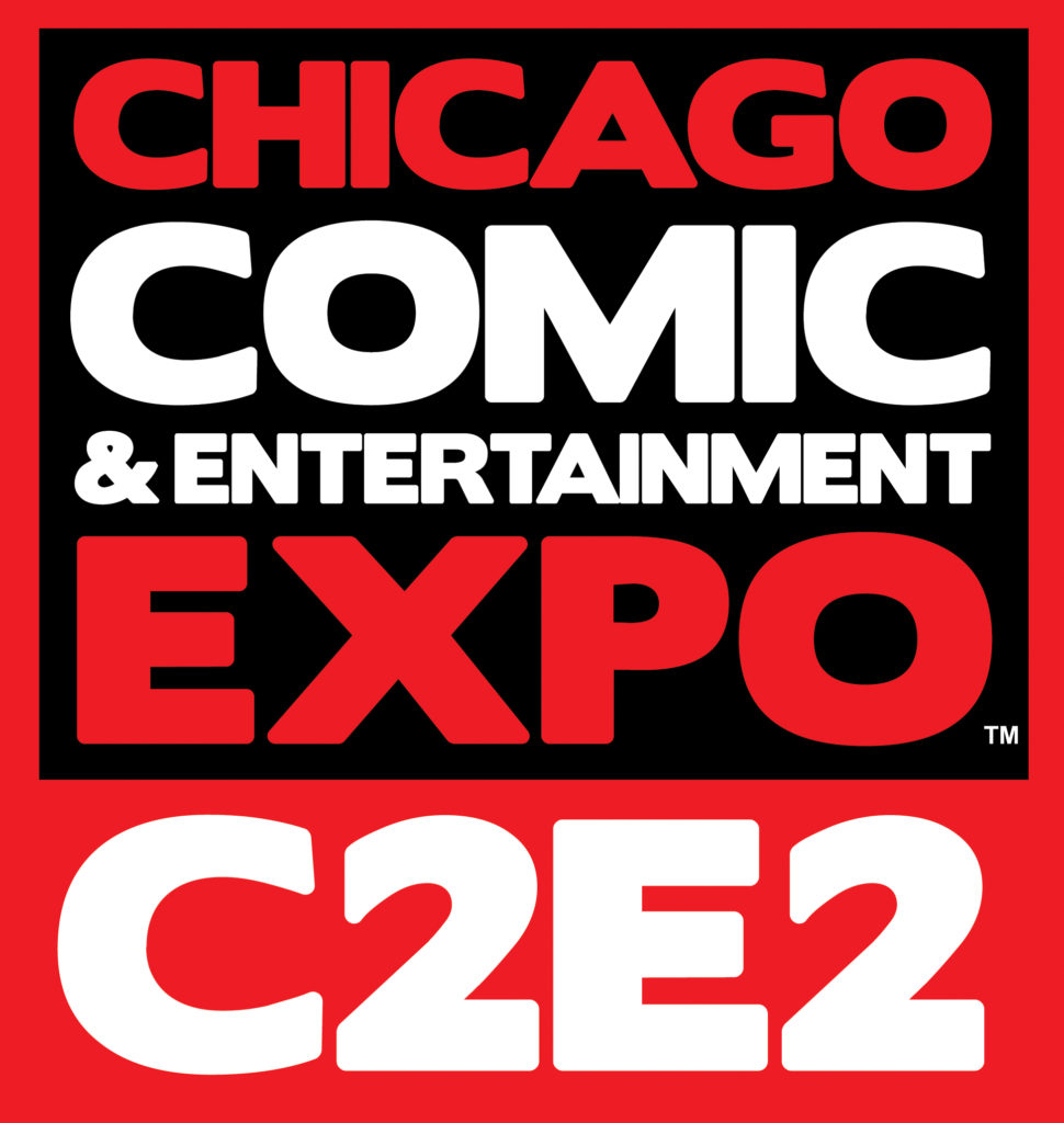 C2E2 Black red and white square logo